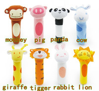 Cloth baby rattle new - BIBI stick sound toys BB rod rattle Baby hand puppet Enlightenment toys style g