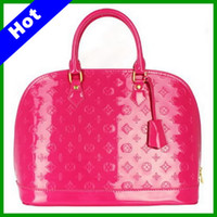 Wholesale 2013 Hot Sale Black Patent Leather Womens Handbag Printed Fashion Handbags High Quality color Choosing BB01
