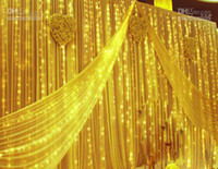Wholesale 600 LED lights m m Curtain Lights Christmas ornament light Fairy Wedding Flash LED Colored lights L107