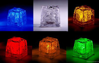 best ice cube - Best price LED Light Up Glow Ice Cubes Wedding Party Centerpieces Decor Christmas Lights