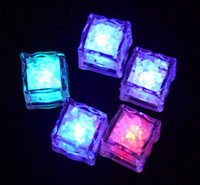 Wholesale High quality LED Light Up Glow Ice Cubes Wedding Party Centerpieces Decor Christmas Lights