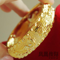 Wholesale Hong Kong gold shop to build a dragon and phoenix bracelet bride wedding millipede gold bracelet gol