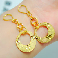Wholesale Ms jindian new simple bridal wedding jewelry earrings K gold plated almost lifelike colors