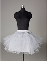 Wholesale Nylon A Line Half Tier Short Length Slip Style Wedding Petticoats