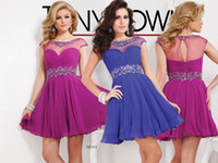 A-Line Reference Images Scoop 2014 Hot Item Sexy Beading Pleat Chiffon Skirt Party Dresses Cocktail Dress Gown Prom Evening Dress Gowns DH4738