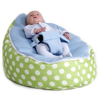 Wholesale Green polka blue seat baby bean bag chair doomoo beanbags kid toddler bean sofa beds