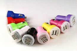 2A + 1A Universal Dual 2 Port USB Car Charger for iphone ipod ipad MP3 no package double usb 200pcs