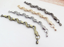 Punk Jewelry New Stainless Steel Zodiac Snake Bracelet women Men Bracelet Retro Vintage Jewelry 4 Colors MG1