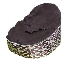 Wholesale HOTSELL NEW peacock Brown baby bean bag chair doomoo sleeping beanbag sofa beds
