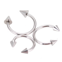 Wholesale Basic Body Jewelry Steel Spike Horseshoe Circular Barbell Lip Rings Gauge Gauge Mixed Sizes
