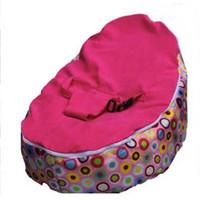 Wholesale Rainbow circle baby bean bag chair doomoo beanbag sofa seat bubble pink seat kid toddlers