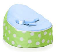Wholesale Green polka snuggle pod with baby blue seat doomoo bean bag chair