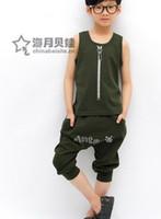 4-7years Boy Summer 2013 new children's clothing suit summer Korean short children's wear boys' suits