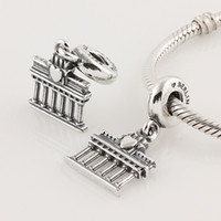 Wholesale sterling silver pendant amp charm Parthenon Temple diy mix fashion big hole for pandora silver core beads from yiwu market fit bracelets LW191