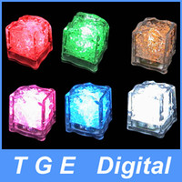 Wholesale Romantic LED Ice Cubes Fixed Color Light Crystal Cube For Valentine s Day Party Wedding Can Mix Color