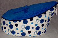 Wholesale Blue dots baby bean bag chair blue seat doomoo beanbag sleeping sofa beds