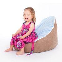 Wholesale Brown base blue seat baby bean bag chair original doomoo beanbags
