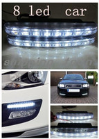 Wholesale LED Universal Car Light DRL Daytime Running Head Lamp Super White WITH RETAIL B