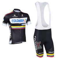 Wholesale 2013 COLOMBIA TEAM Short Sleeve Bicycle Bike Wear Cycling Jersey BIB Shorts Size XS XL