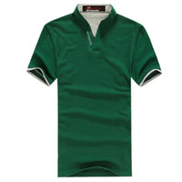 Wholesale mens cotton multi color polo shirt short sleeve plain t shirts mens polo shirts
