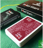 Wholesale On Sale one Wine red and one black Scrub plastic playing cards poker stars