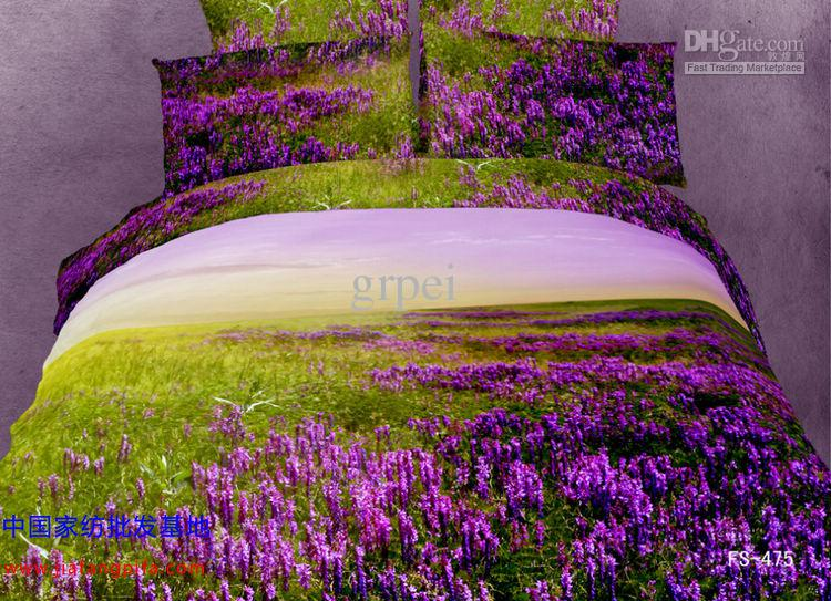 Lavender Purple Green Beautiful Comforters Sets Bedding Comforter Set