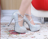 Wholesale High with Waterproof Taiwan Diamond Wedding Shoes Wedding shoes crystal wedding the bride shoes