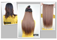 Wholesale width cm length cm lady s straight five clip in hair extension price