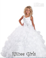 Wholesale RITZEE GIRLS GLITZY KIDS GIRLS NATIONAL PAGEANT GOWN WINNING DRESS NWT PARTY PROM DRESSES