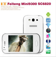 Wholesale FeiTeng Mini N9300 Screen Android GSM Cell Phone Spreadtrum SC6820 Cortex A5 GHz WiFi Dual SIM Dual Camera MP