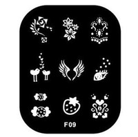 Wholesale Fashion F Series Templates Stainless Steel Image Plate Nail Art Stamping Plates Template