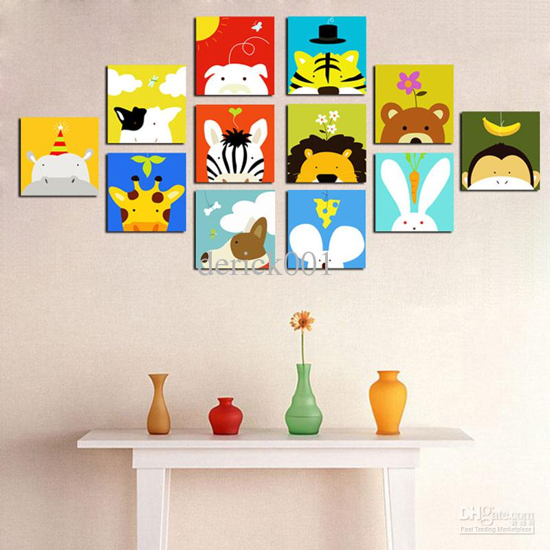 2017 home decoration painting mural child real animal for Cartoon mural painting