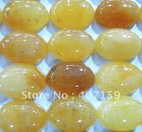 Wholesale 13x18mm Yellow Jade Oval Gemstone CAB Cabochon Jewelry Beads