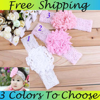 Wholesale Hot Sale Baby Headbands Headbands For Babies Girls Chiffon Flower Headbands HairBand Hair Accessories
