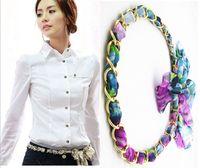 Wholesale Summer fashion wild alloy chiffon fabric female belt