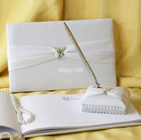 Wholesale Wedding Favors Wedding Party Three dimensional butterfly design Wedding Guest Books amp Pen Sets