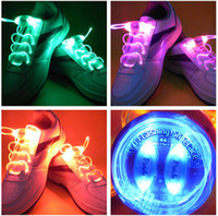Wholesale 2pair Colorful LED Flashing Shoelaces Disco Light up Shoelace Shoe laces light up shoes battery up lights shoe laces led