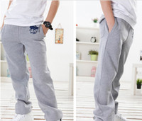 the four seasons - Summer children casual pants Korean the four seasons knit Pure color kids Straight leg pants boys sport pants colour size