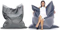 Fabric big beanbag chairs - Large Original Dark Grey Bean Bag cm in big size lazy chair big cushion beanbags outdoor sofa