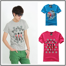 Wholesale 2013 new men s short sleeved T shirt men s short T bottles Guangzhou Shahe cheap T supply T shirts