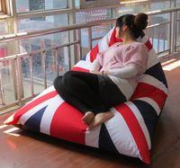 Wholesale Union jack Pivot bean bag chair relaxing beanbag cushion cover