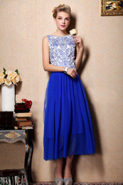 Wholesale 2013 new blue and white woman dress embroidered porcelain retro pleated women dress vest skirt
