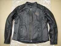 Wholesale Women s th Anniversary genuine Leather Jacket VW motorcycle jacket