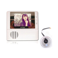 Wholesale 2 quot LCD Monitor Digital Door Peephole Viewer x Zoom Camera Photo Cam Doorbell