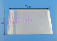 Wholesale 1000pcs Clear Self Adhesive Seal Plastic Bags x7cm