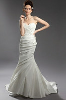 Wholesale 2013 New Fashion Strapless Custom Size Sleeveless Floor length Sexy Zipper Wedding Dresses Layered Complex Strapless Cheap Arabic Dresses