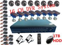 ccd dome camera - 16 CH CCTV CCD Net DVR Home Surveillance DVR System Security Dome Camera Video Recording H040