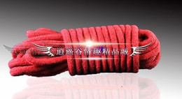 Wholesale Sex product m Black or Red Cotton Rope bound bondage BDSM Game bondage trainer