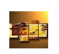 Wholesale MODERN ABSTRACT HUGE WALL DECORATE CANVAS ART OIL PAINTING African