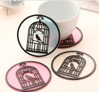 Wholesale Bird Birdcage Pattern Insulation Coaster Mats Bowl Disc Pads Placemats
